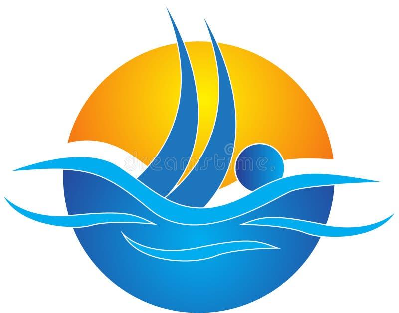 Het zwemmen vector illustratie