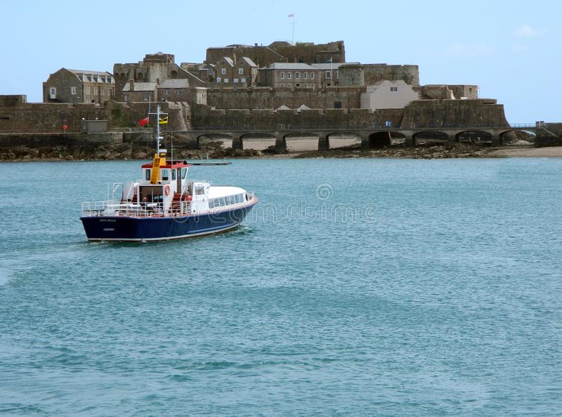 Een Veerbootofferte in Guernsey stock foto