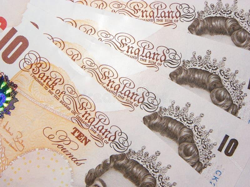 Een ventilator van Engels Geld stock afbeeldingen