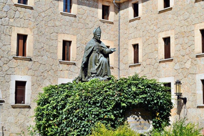 Een verbazend katholiek christelijk klooster van Santuari DE Lluc royalty-vrije stock fotografie