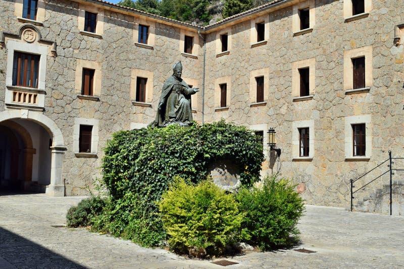 Een verbazend katholiek christelijk klooster van Santuari DE Lluc stock fotografie
