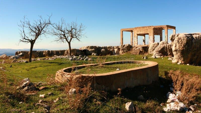 Een verlaten landschap royalty-vrije stock fotografie