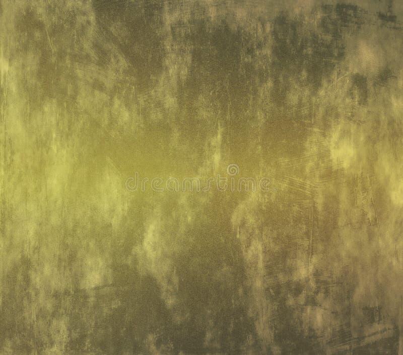 Een versleten muur in gouden tonen royalty-vrije stock afbeelding