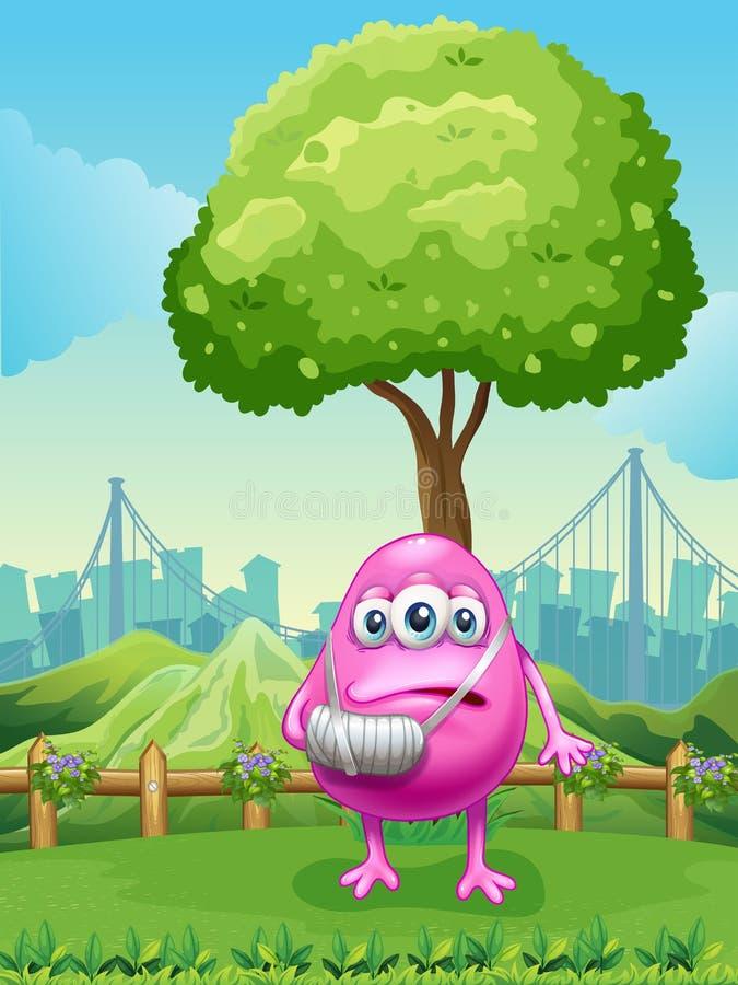 Download Een Verwonde Aap Dichtbij De Boom Vector Illustratie - Illustratie bestaande uit ondernemingen, tekening: 39117044