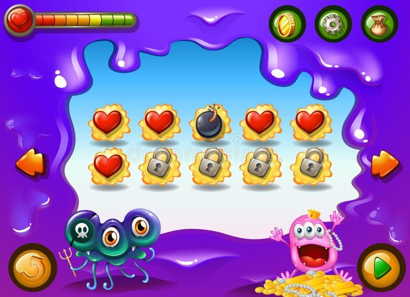 Een videospelletje met monsters stock illustratie