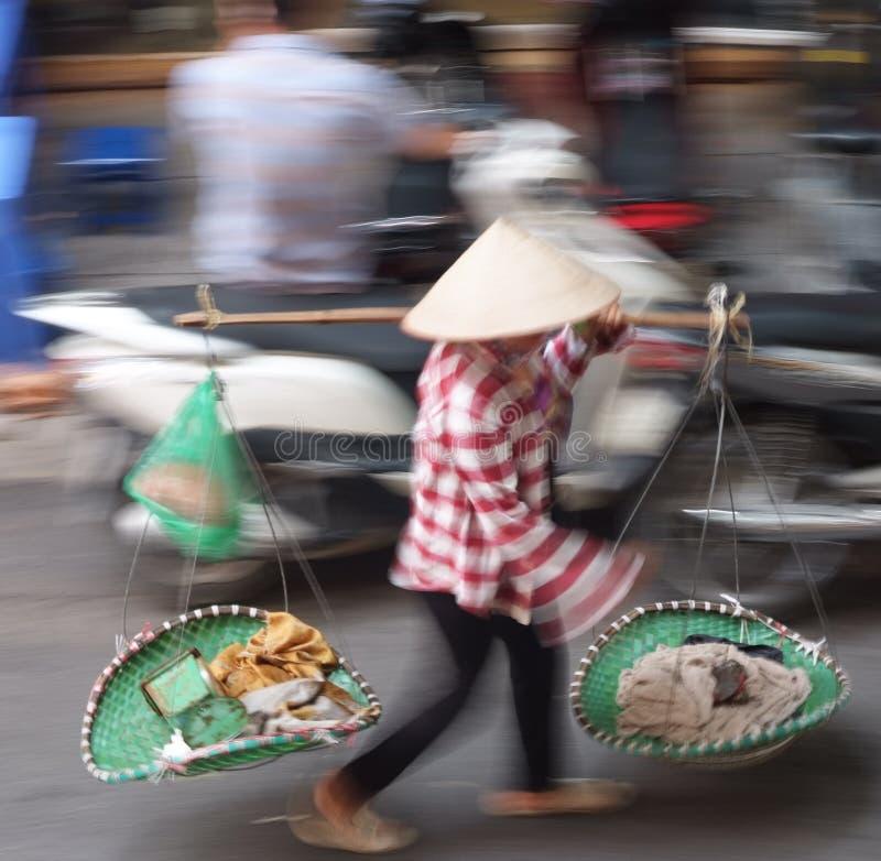 Een Vietnamese landbouwer stock afbeelding