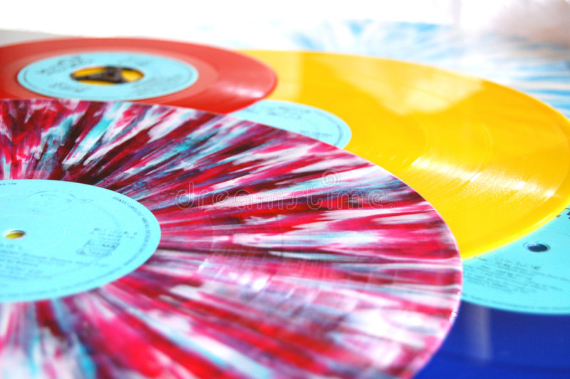 Een vinylinzameling stock fotografie