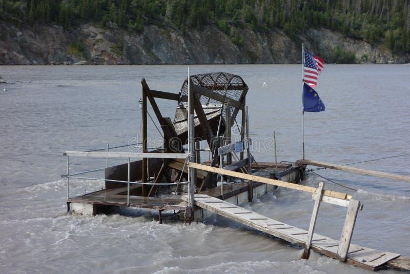 Een visserijwiel op het werk royalty-vrije stock foto