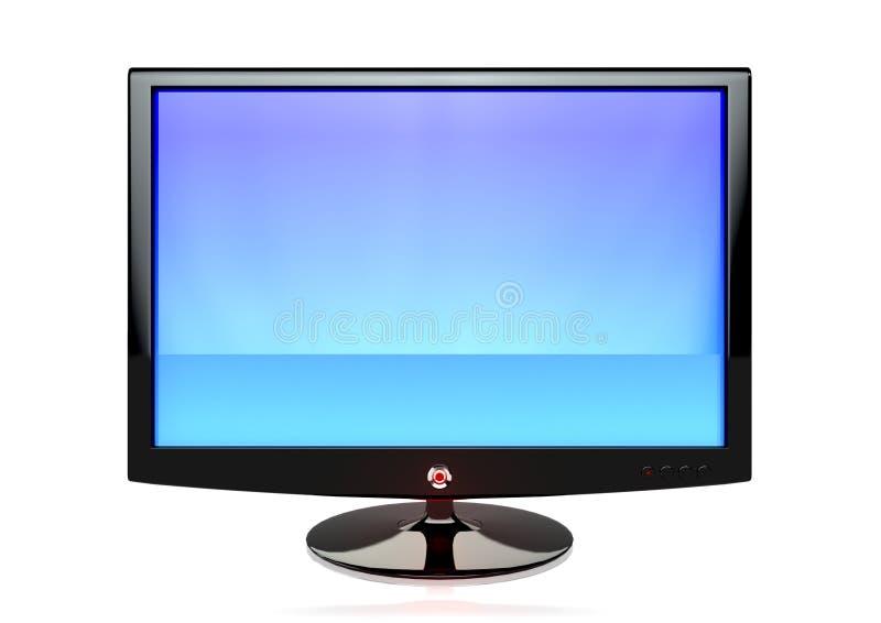 Een vlakke het schermTV royalty-vrije stock afbeeldingen