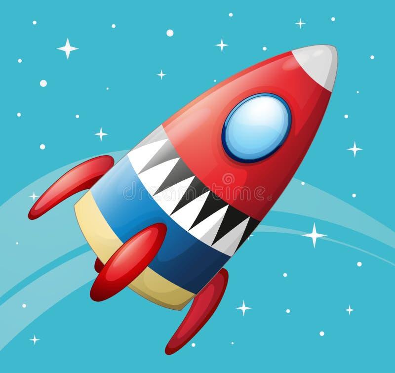 Een vliegend ruimteschip vector illustratie