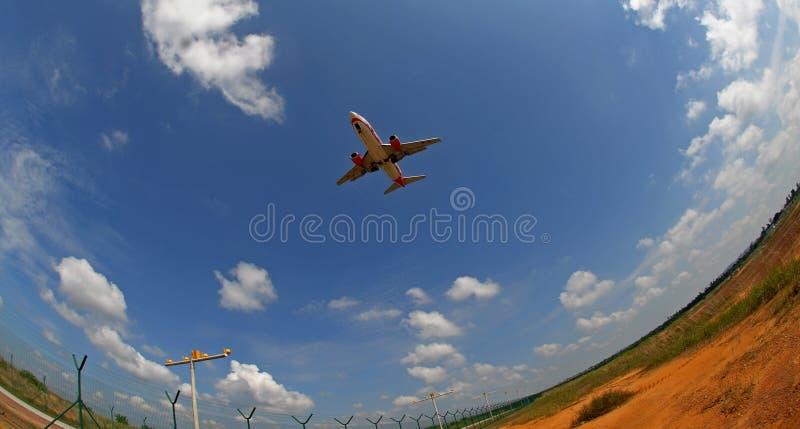 Een vliegtuig stock foto