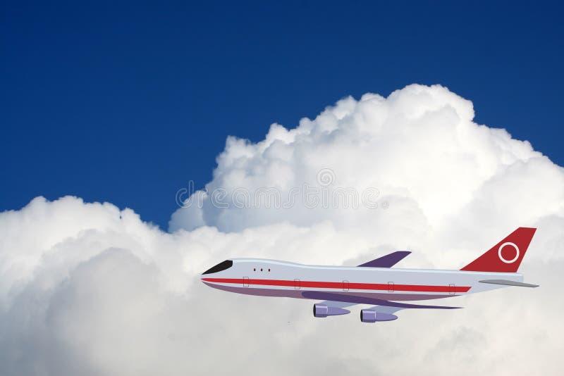 Een vliegtuig in de hemel royalty-vrije stock fotografie