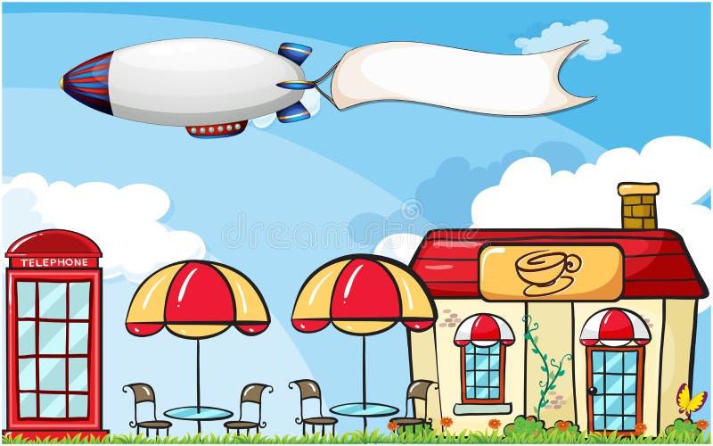 Download Een Vliegtuig Met Een Lege Banner Vector Illustratie - Illustratie bestaande uit floating, staaf: 39116921