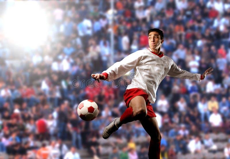 een voetballer   stock fotografie
