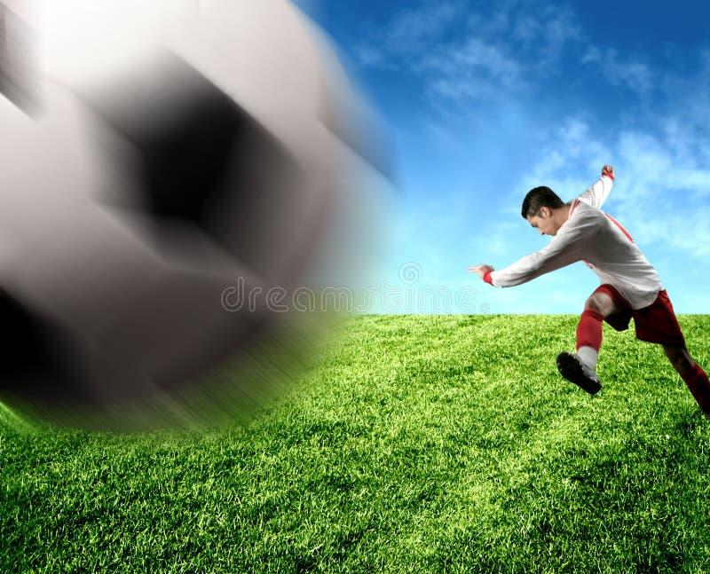 Een voetballer stock afbeelding