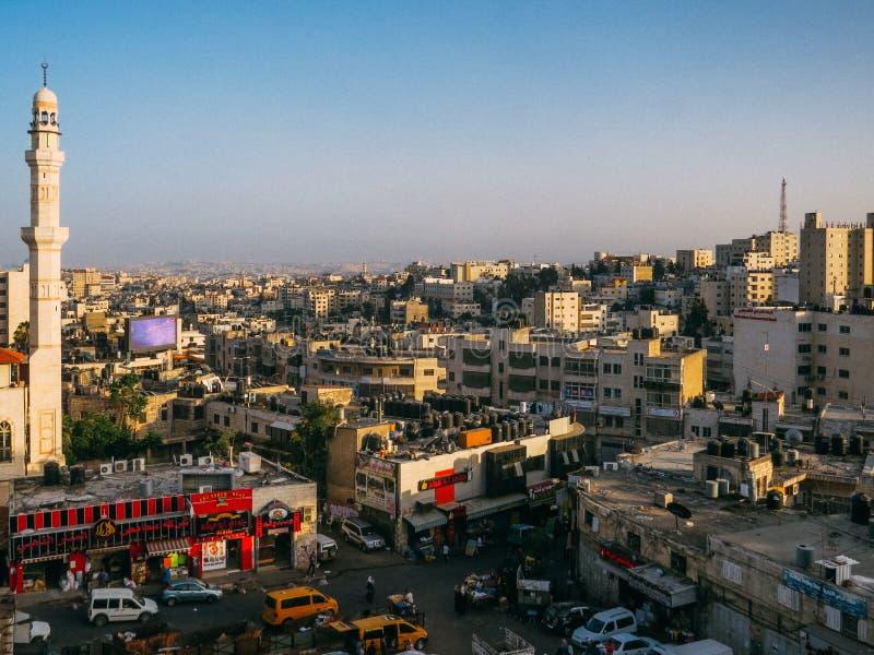Een Vogelperspectief van Ramallah stock afbeeldingen
