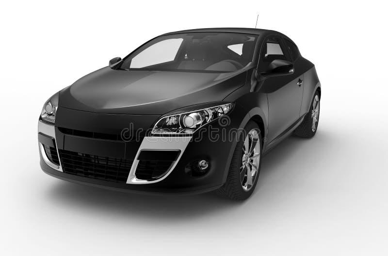 Een voor zwarte auto vector illustratie