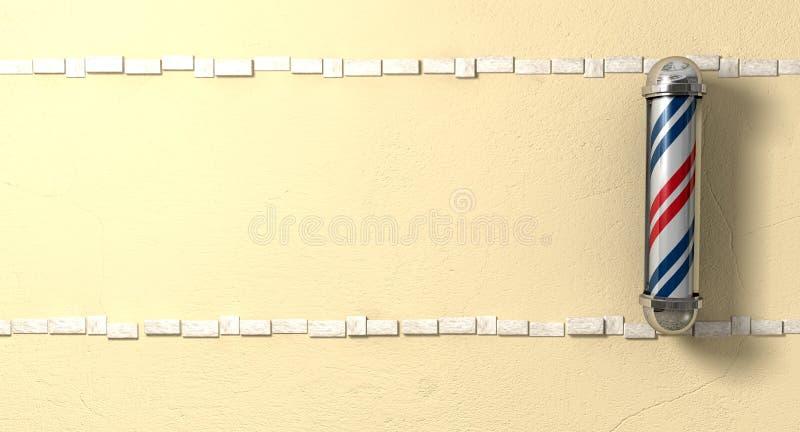 De Opiniepeiling van kappers Opgezet op een Voorzijde van de Muur royalty-vrije illustratie