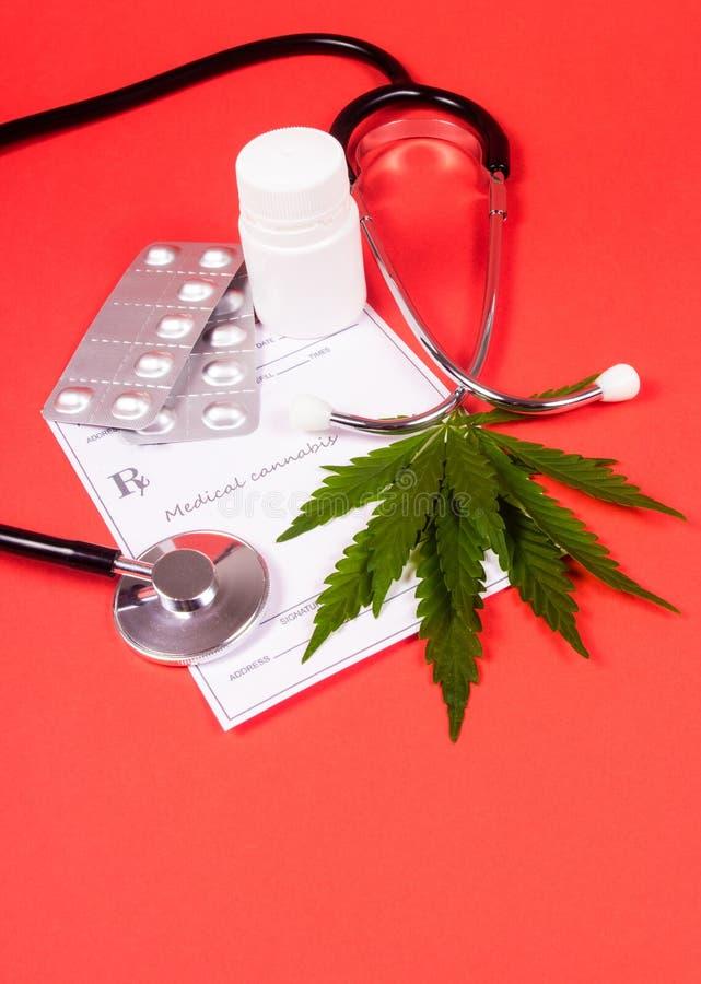 Een voorschrift voor medische marihuana royalty-vrije stock afbeelding