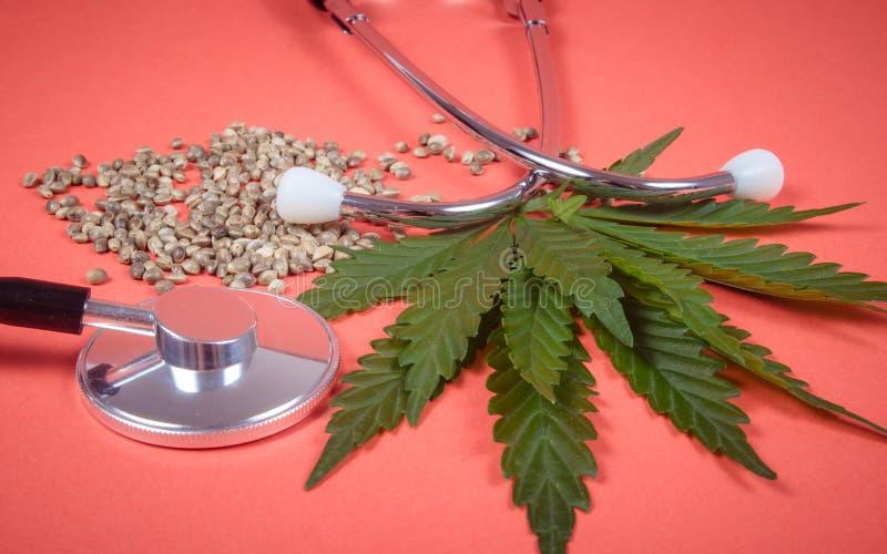 Een voorschrift voor medische marihuana royalty-vrije stock foto's
