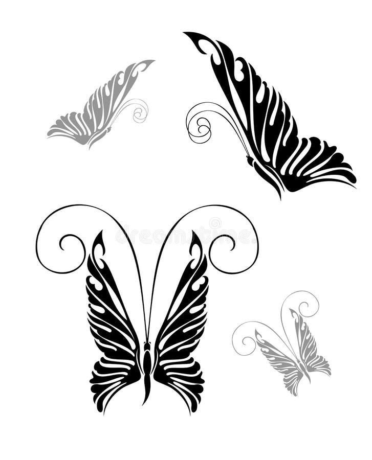 Een vrij kleurrijke vlinder vector illustratie