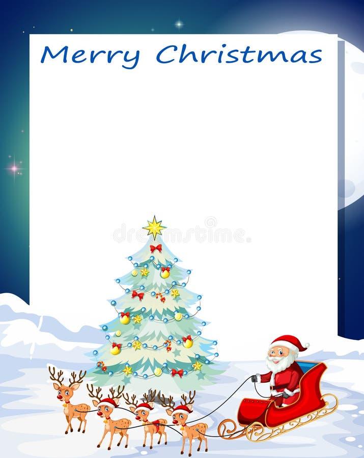 Een vrolijk Kerstmis cgard malplaatje vector illustratie