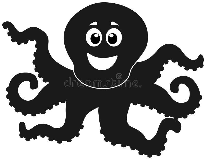 Een vrolijke schaduw van octopus royalty-vrije illustratie