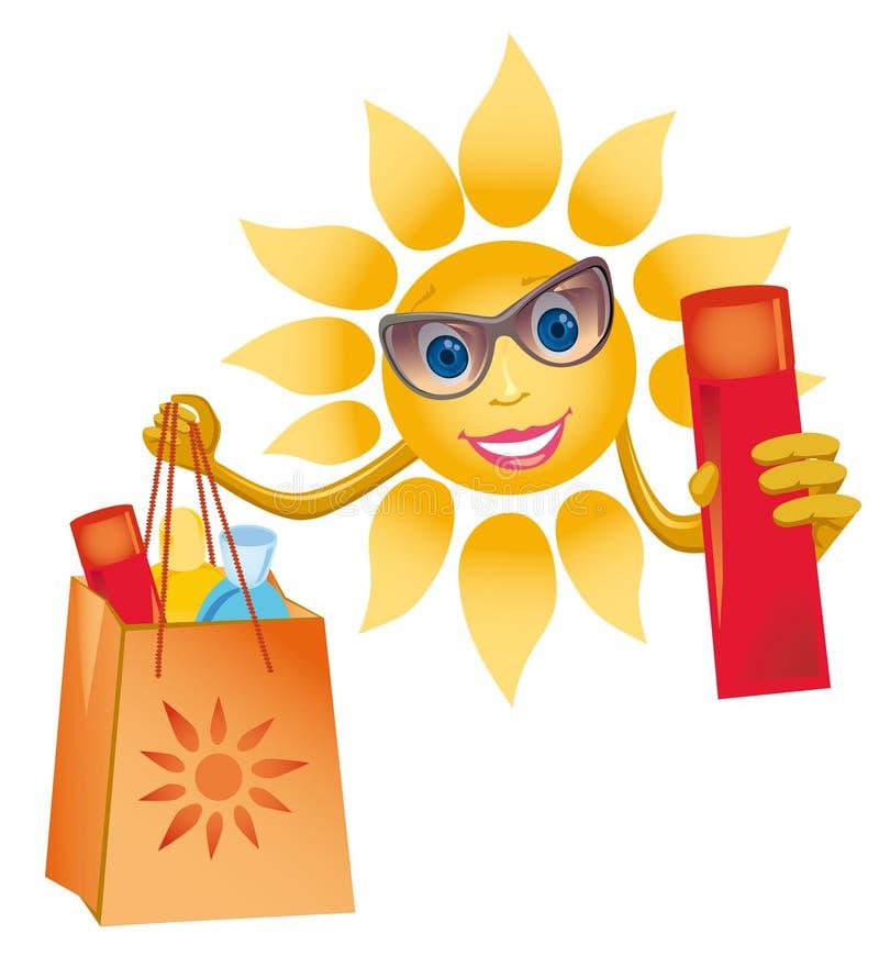 Een vrolijke zon royalty-vrije illustratie