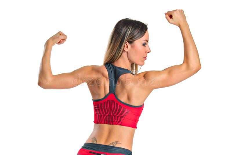 Een vrouwelijke atleet royalty-vrije stock afbeeldingen