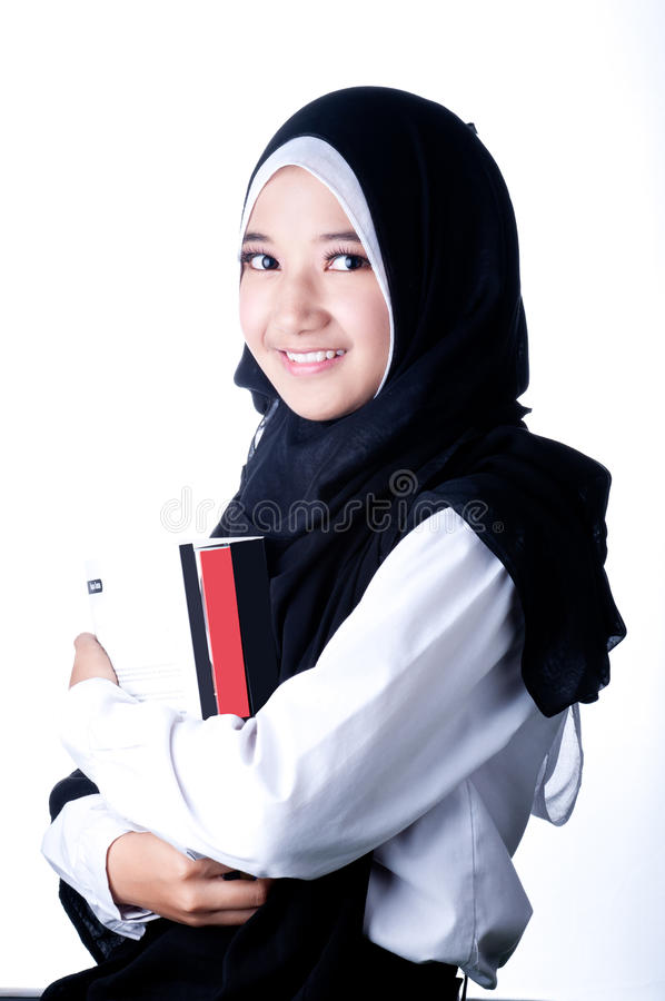 Een vrouwensluier van het Land van Indonesië royalty-vrije stock foto's