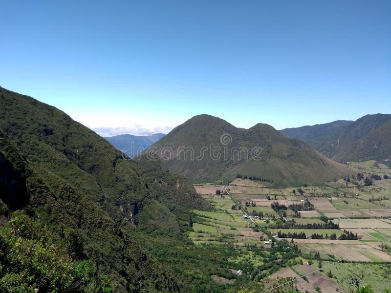Een vulcano in Quito stock foto
