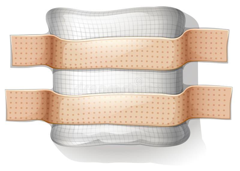 Een vulling met een pleister vector illustratie