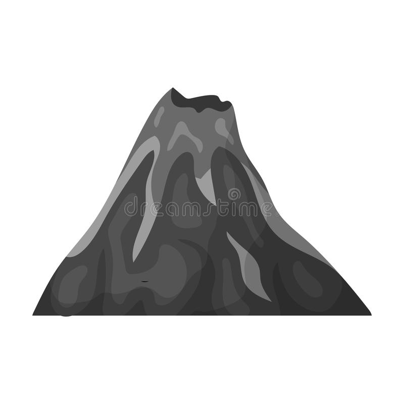 Een vurige vulkaan een berg waarin er een vulkanische uitbarsting is de verschillende bergen - Decoratie stijl van de bergen ...