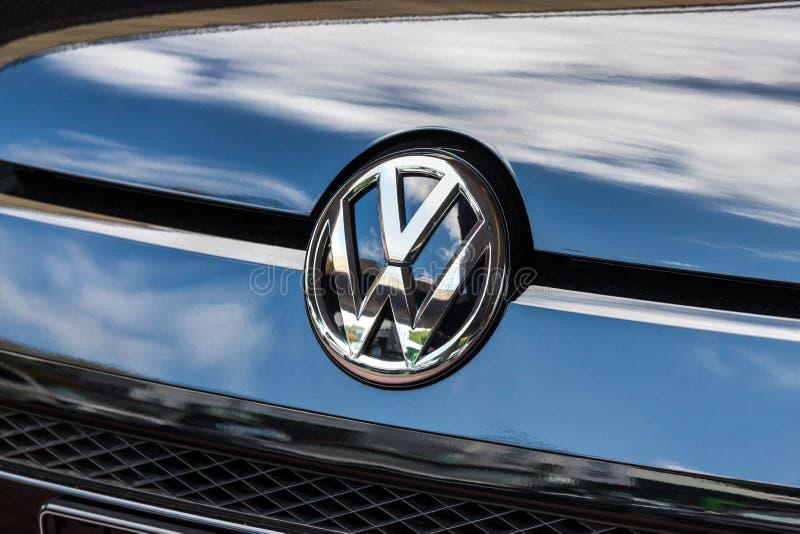 Een VW-autoteken in siegen Duitsland royalty-vrije stock fotografie