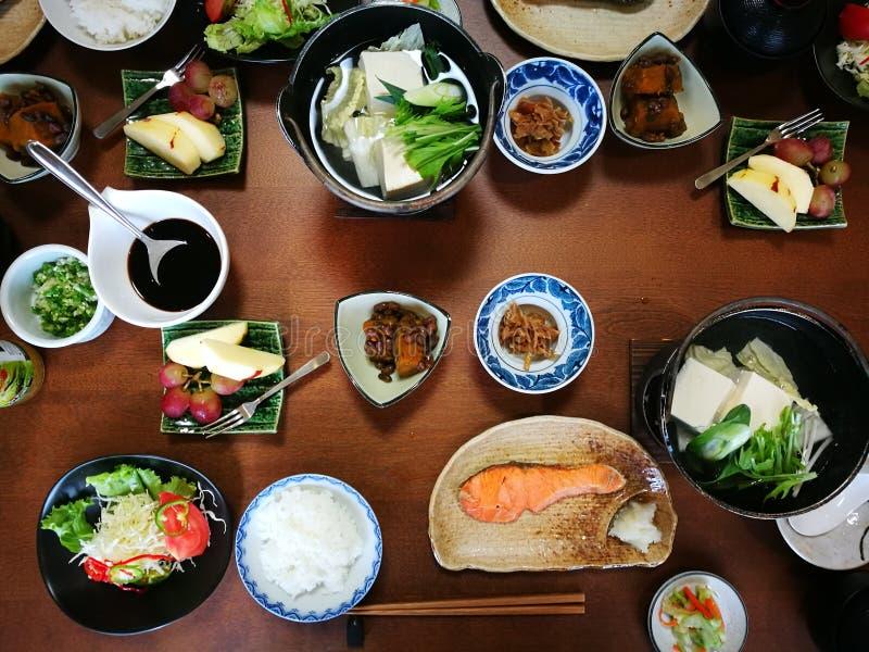 Een warm Japans ontbijt stock foto's