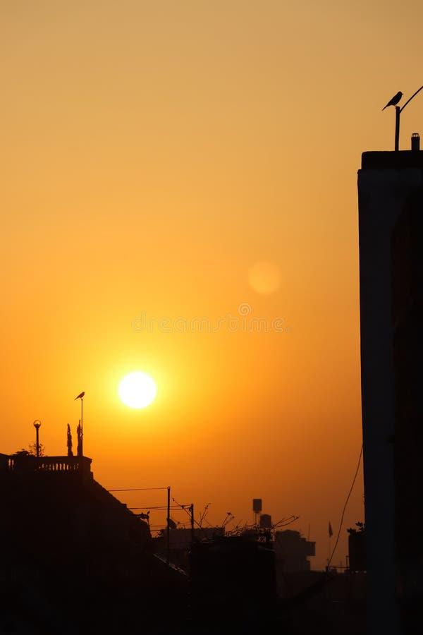 Een warme de winterzonsopgang van Katmandu royalty-vrije stock afbeelding