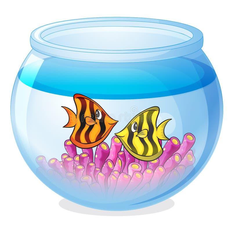 Een waterkom en een vis vector illustratie