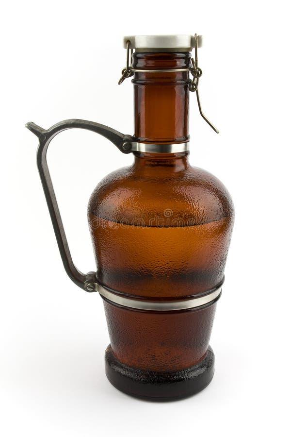 Een waterkruik glas voor bier stock foto