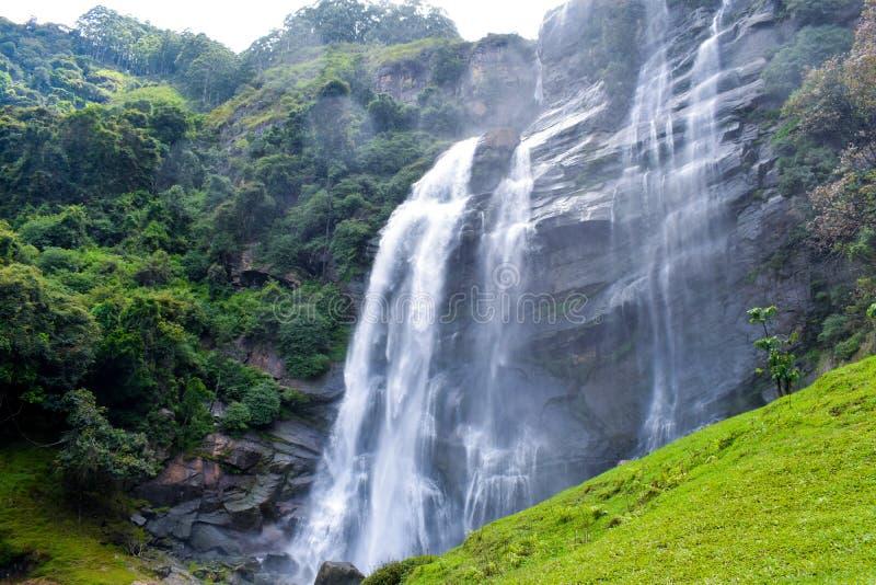 Een Waterval die Schoonheid toevoegt aan de Aard royalty-vrije stock afbeelding