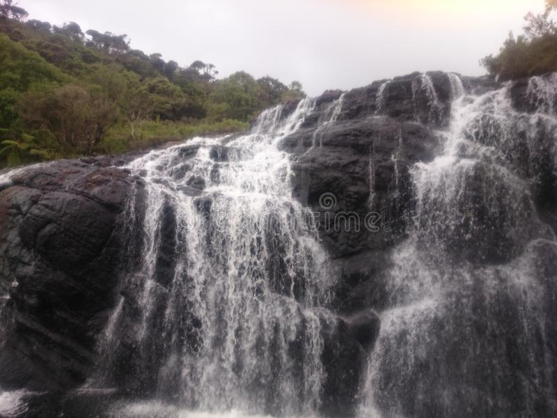 Een waterval in Sri Lanka stock foto's
