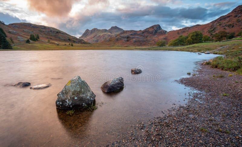 Een Weergeven van het Berglandschap in Cumbria royalty-vrije stock foto