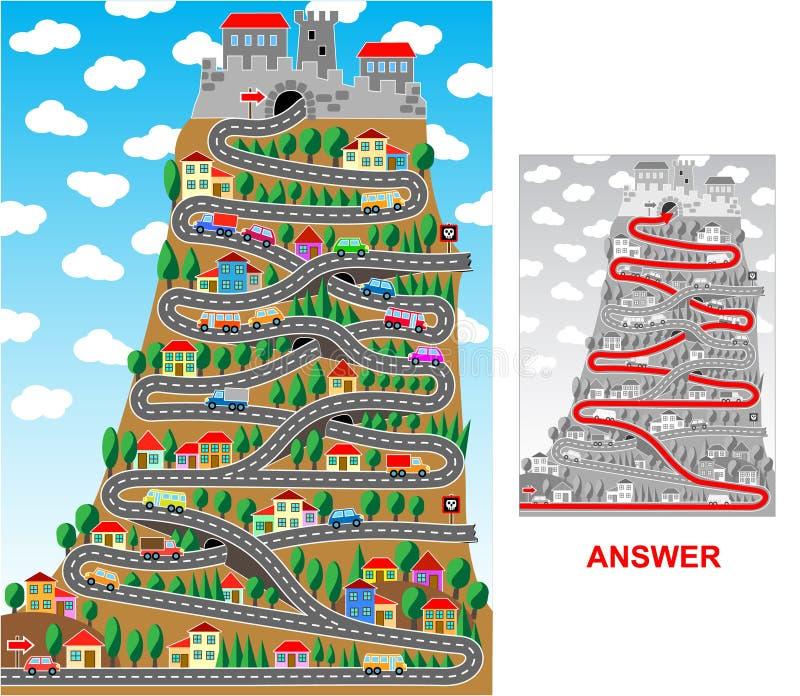 Een weg aan kasteel vector illustratie