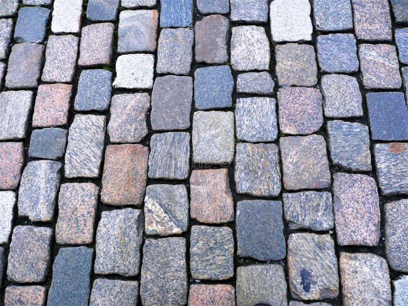 Een weg uit stenen wordt samengesteld die royalty-vrije stock afbeelding