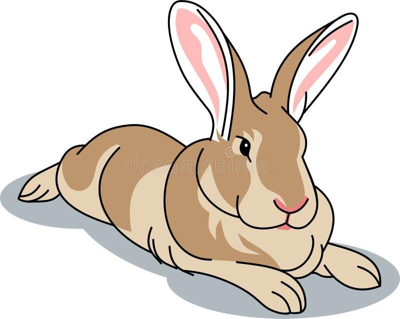 EEN WEINIG sympathiek bruin konijn l royalty-vrije illustratie