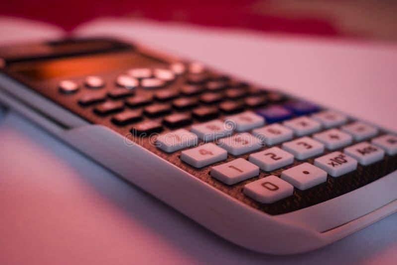 Een wetenschappelijke calculator royalty-vrije stock fotografie