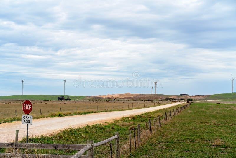 Een Windlandbouwbedrijf in Land Australië royalty-vrije stock afbeeldingen