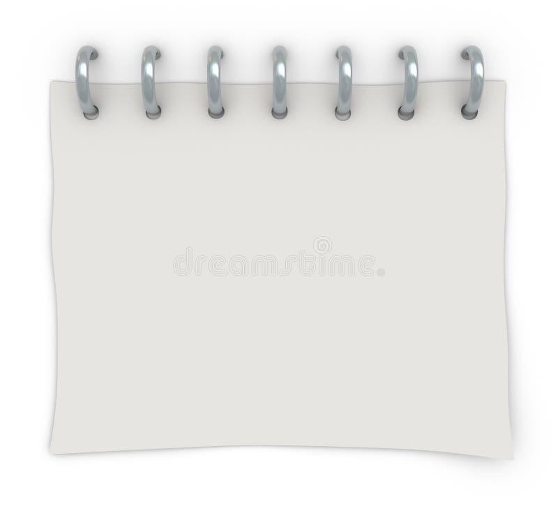 Een wit blad van document stock afbeelding
