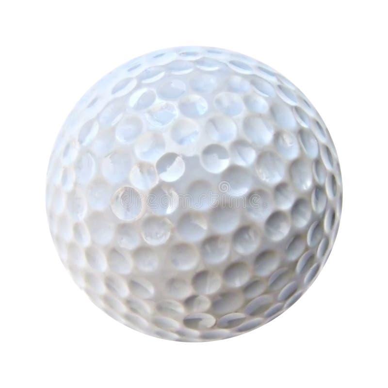 Een witte golfbal royalty-vrije stock afbeeldingen