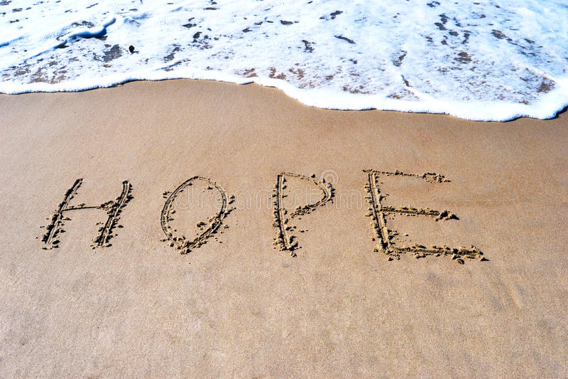 Een woord van hoop stock afbeelding