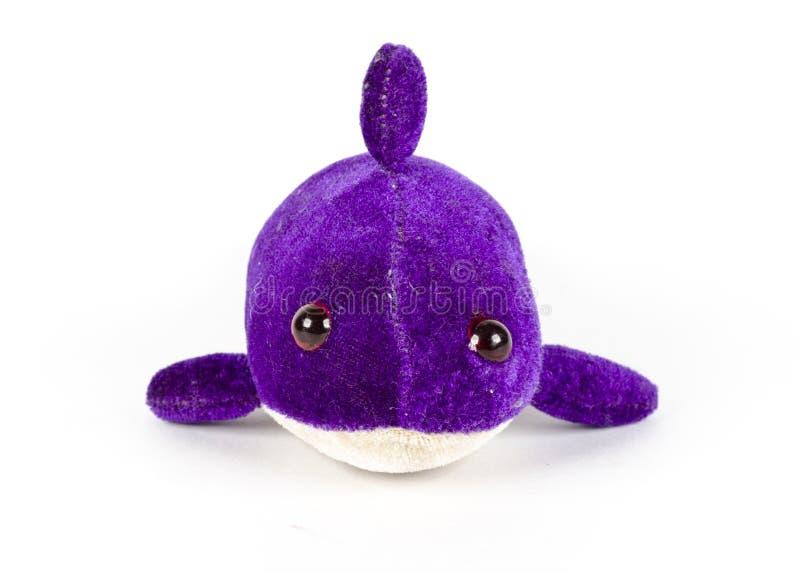 Een zachte stuk speelgoed dolfijn royalty-vrije stock foto's